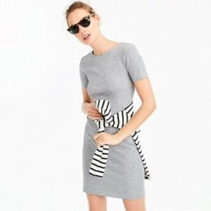 J. Crew short sleeve gray cotton sheath dress